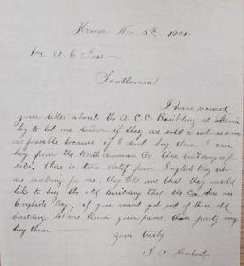 University of Alaska Fairbanks, Polar Regions Archives Alaska Commercial Company Records 1868-1913 Box 116. Folder 1022 – Kodiak, Letters, Incoming: Homer Station: 1900-07